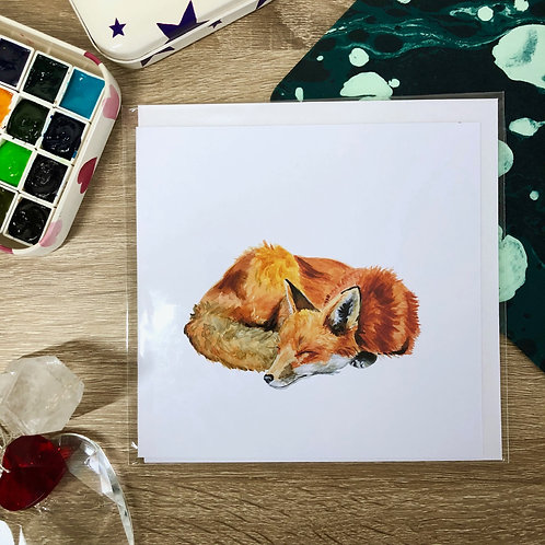 Sleepy Fox Card