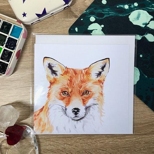 Curious Fox Card