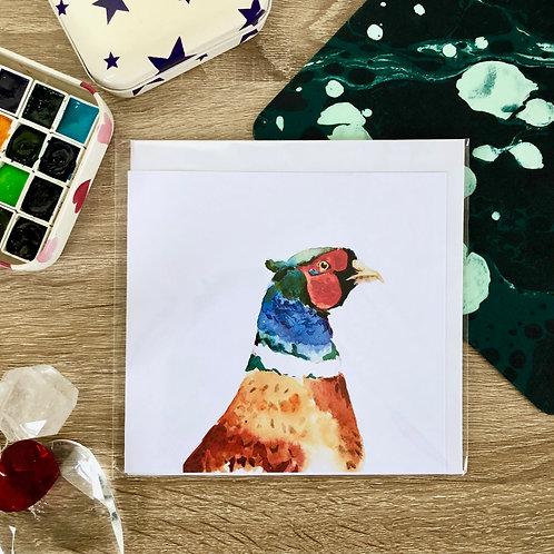 """""""Pheasant"""" Card"""