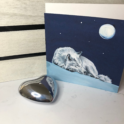 Dreaming Wolf Card