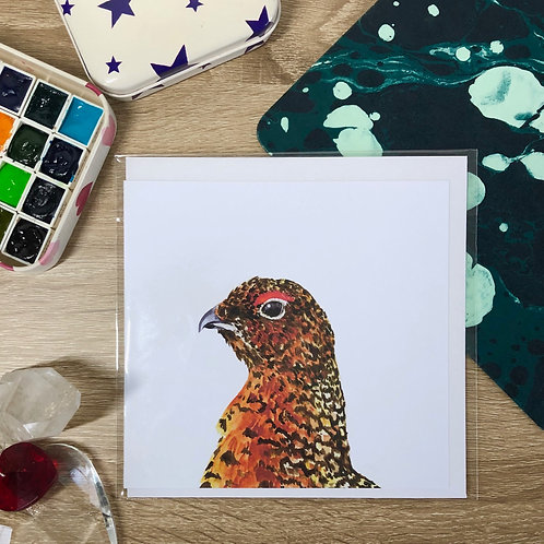 """""""Red Grouse"""" Card"""