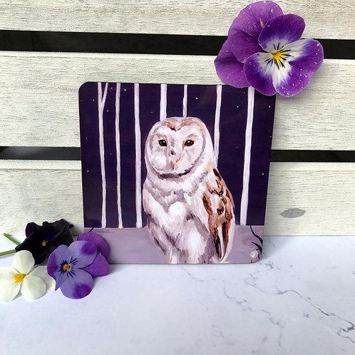 Snowdrop Owl Coaster