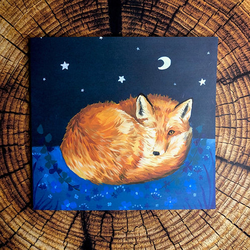 "Set of Four ""Moonlit Fox"" Cards"