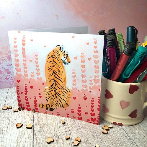 Waiting Tiger, Hidden Hearts Card