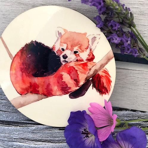 Cosy Red Panda Coaster