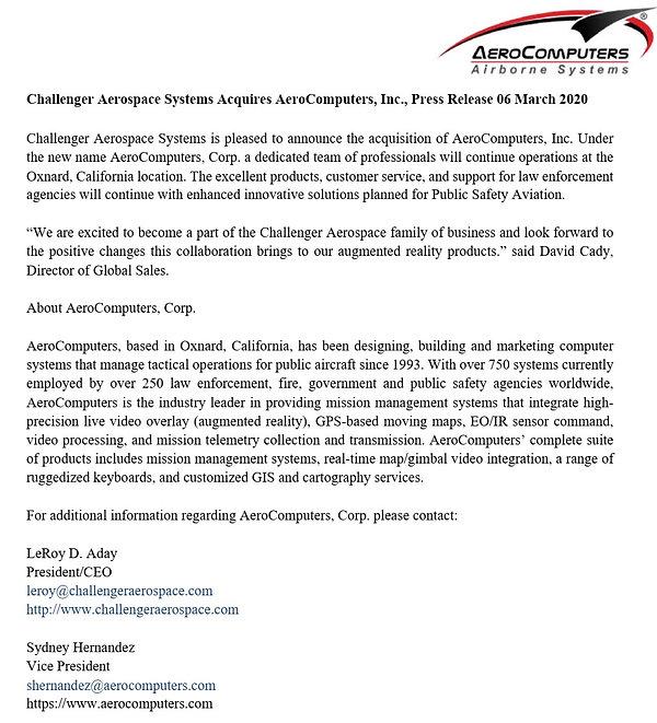 Challenger_Aerospace_Aquires_AeroCompute