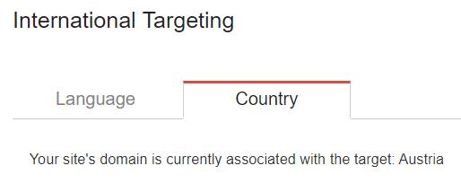 international targeting for seo