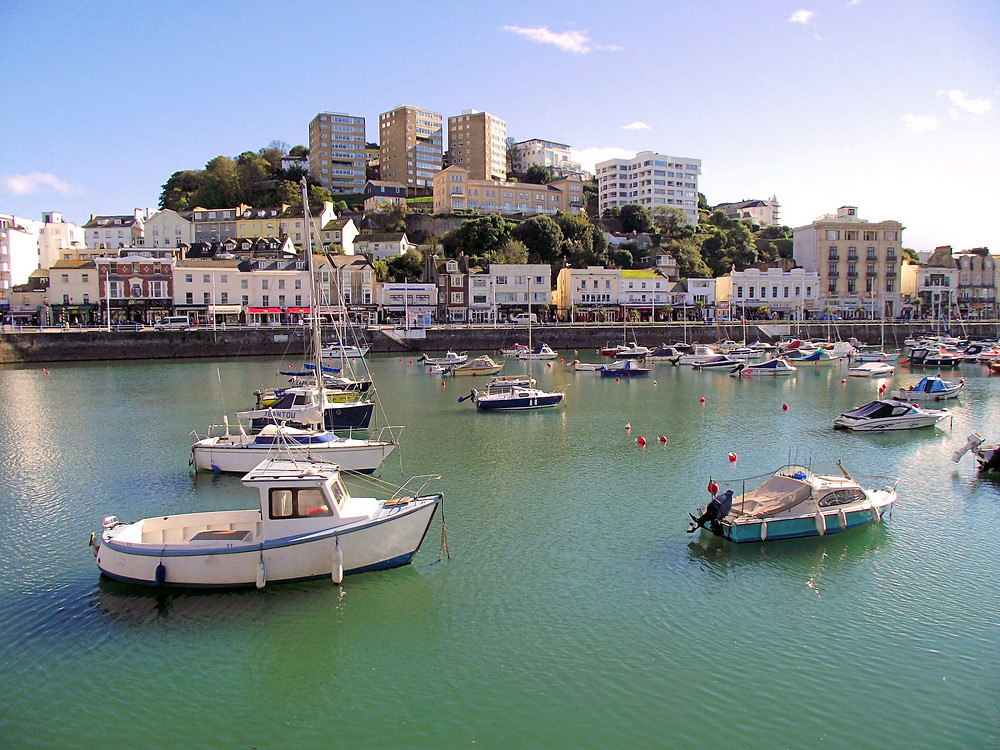 torquay harbour during summer
