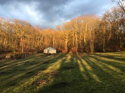 Yurt in the late autumn sun.JPG