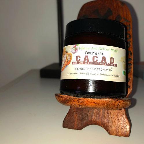 Beurre de cacao (enrichi à l'huile de Baobab)