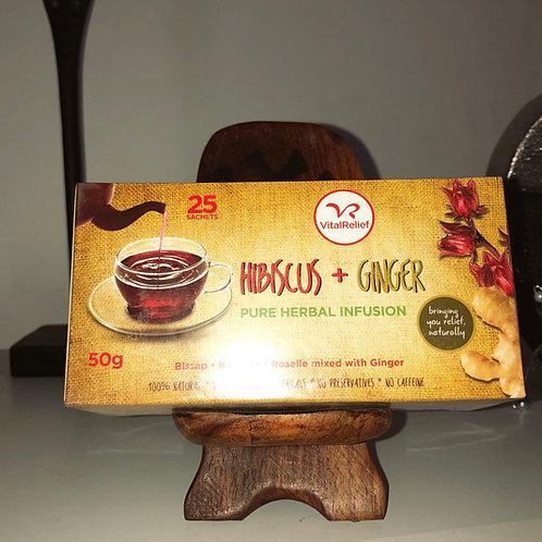 Thé à l'hibiscus et au gingembre
