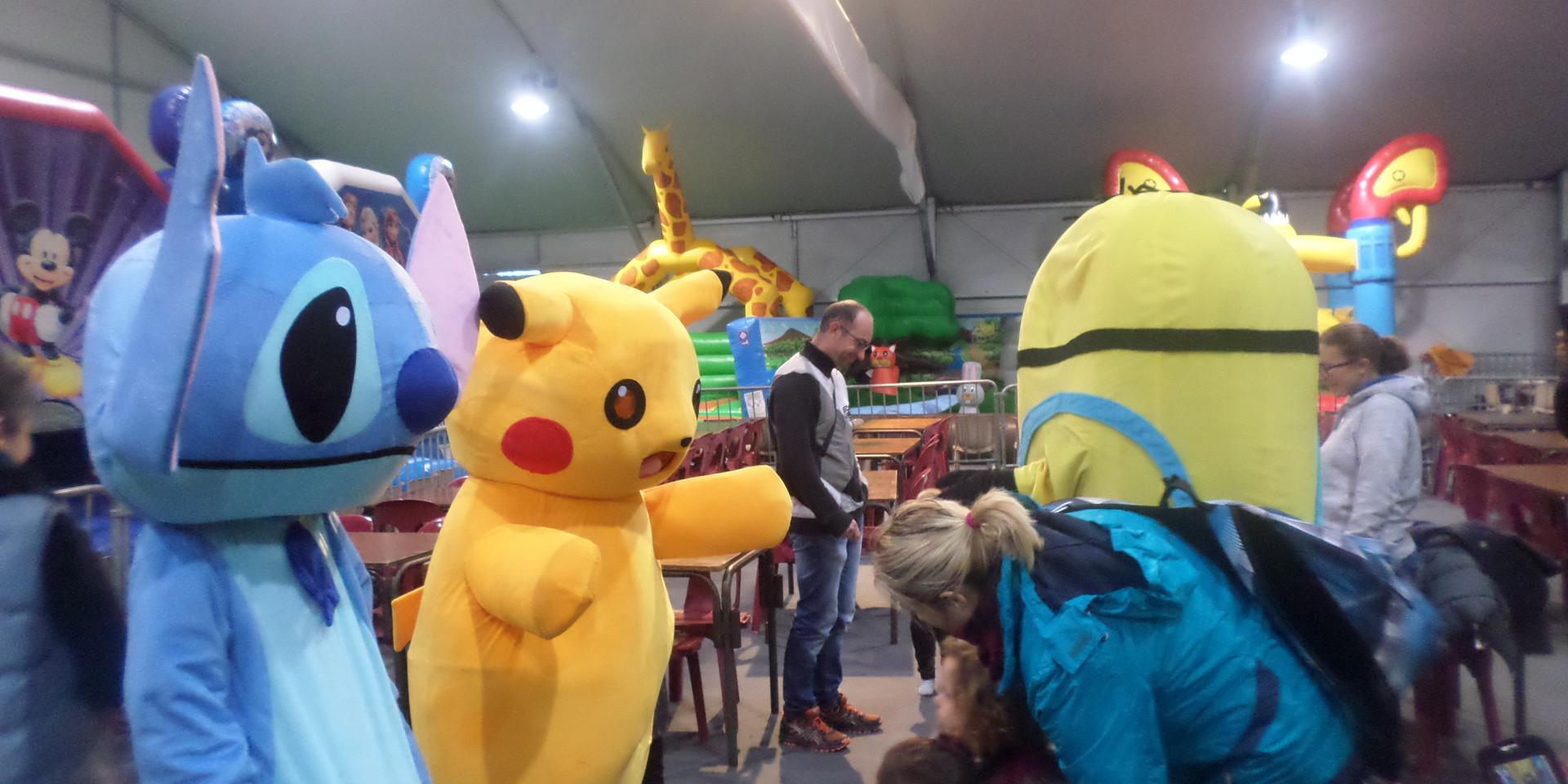 defile de mascotte parc indoor