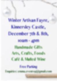 Copy of Winter Artisan Fayre Kinnersley
