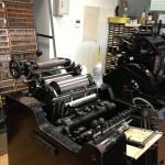 活版印刷工房を見学しました