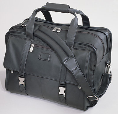 Kluge® Leather Expandable Carry-On