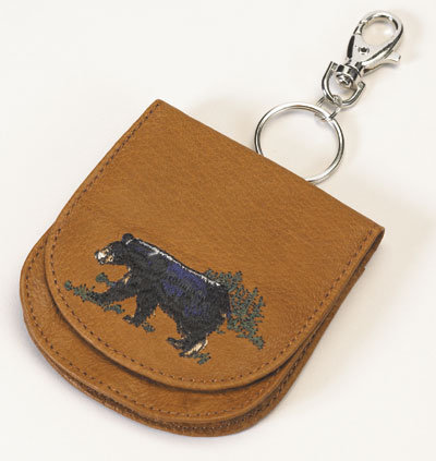 Coin Sac with Key Chain and Belt Clip