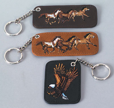 Key Chain with Leather Fob
