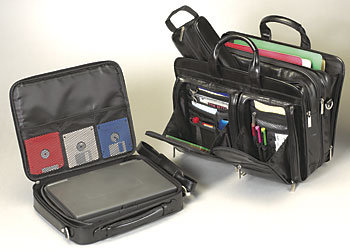 CEO Expandable Briefcase with Laptop Shuttle
