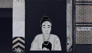 Lena Waithe Portrait Stencil Work