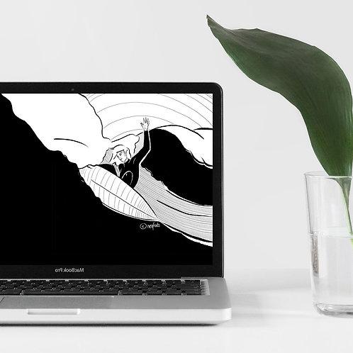 "Desktop Wallpaper ""Surf Girl"""