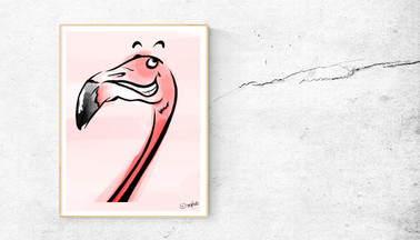 Flamingo Colorful Artwork