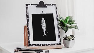 SUP Whale Art