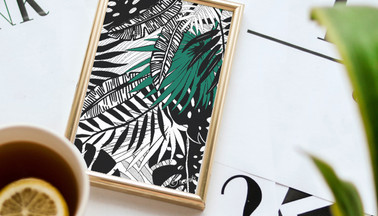 Jungle Leaf Surf Art