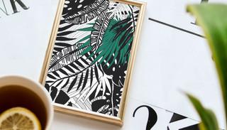 Jungle Leaf Surf Art