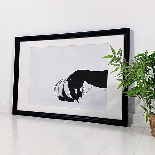 """Framed Hands """"Love"""" - 98 x 68 cm"""