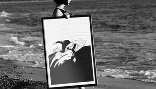 Surf Girl Illustration