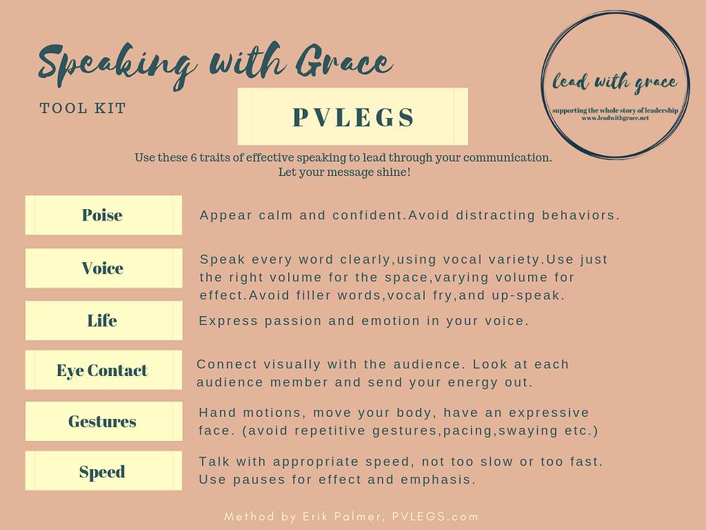 PVLEGS Traits of Effective Speaking
