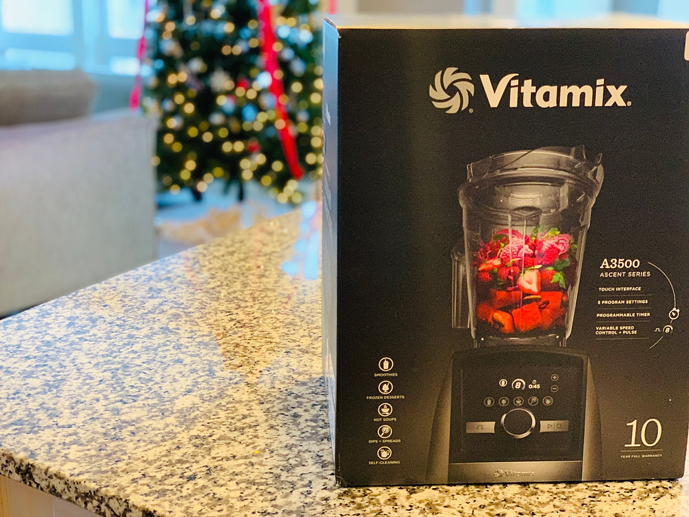 Vitamix box on counter