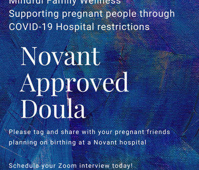 Novant Verified Doula Support ~                                              What This Means for You