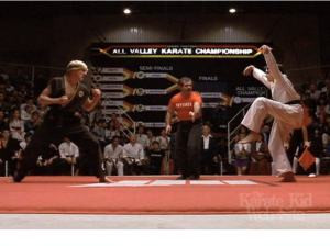 The scene that got me so pumped, the following day  I joined a Karate club!