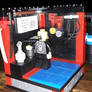 Lego Dave in his Lego Wild Geese Gym!