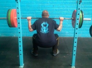 Heavy direct loading of the spine in a bilateral stance using liner movement. You better stay neutral under that bar!