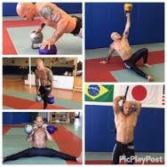 Xande Ribiero training with Kettlebells under IKFF founder Steve Cotter