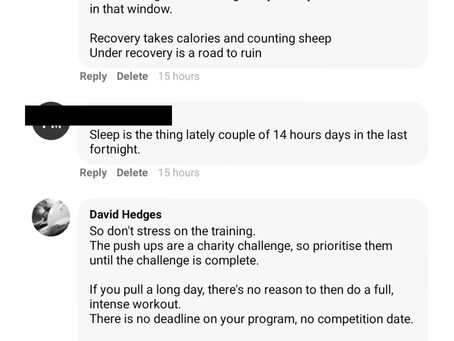 Calories and Counting Sheep