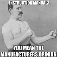 manly man instructions