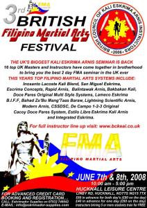 3rd British Filipino Martial Arts Festival