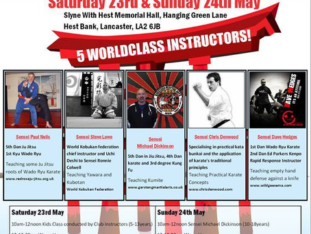 Join me & 4 Top Instructors for 2 Days of Awesome Karate Jitsu Training