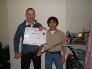 Irelands First Doce Pares Black Belt