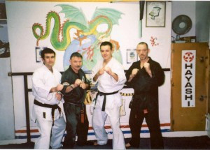 Getting my Kenpo 1st Dan in 2001