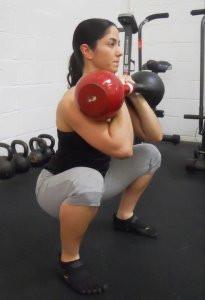 kb front squat Neghar