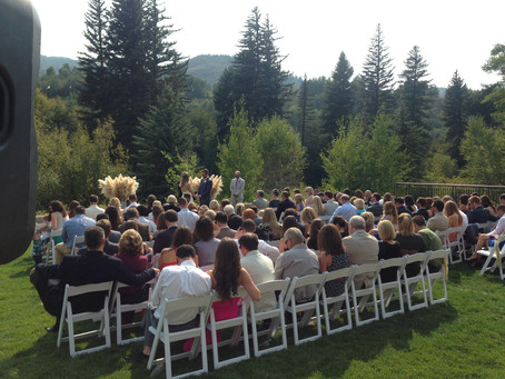 River side wedding in Avon, CO. Westin Avon - Beaver Creek - Vail
