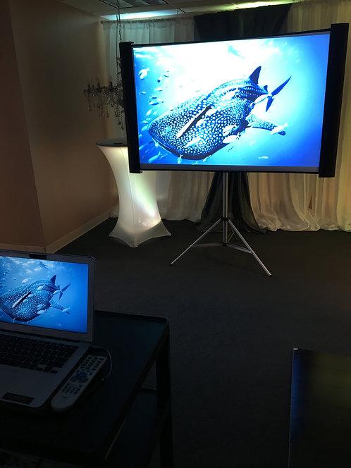 Projector Media Cart W/ Small Screen