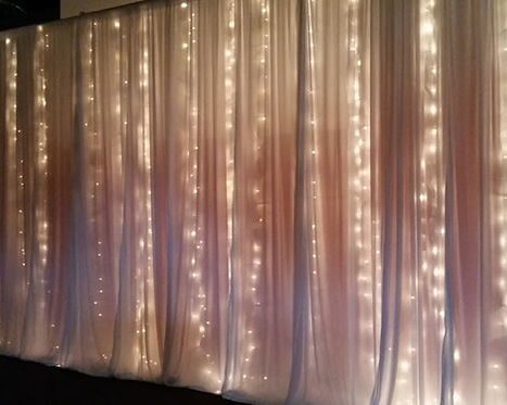 Pipe and Drape with String Light