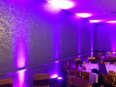 What can up-lights do for your reception?
