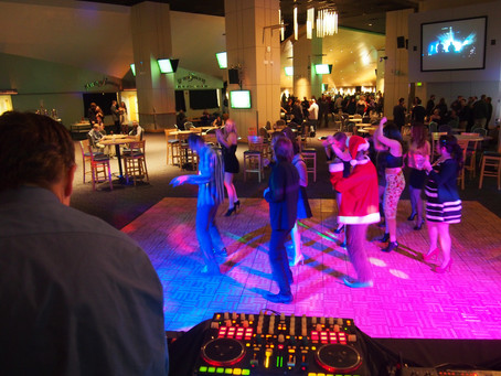 Another dance floor lit up with lights