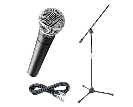 Single Vocal Microphone w/Stand & Cable